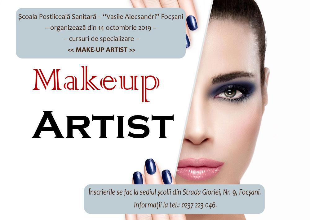 Organizăm noi cursuri de calificare și specializare – Calificarea MAKE-UP ARTIST